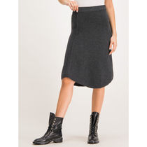 Max&Co. Midi Flared Skirts Casual Style Plain Medium Party Style 8