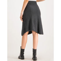 Max&Co. Midi Flared Skirts Casual Style Plain Medium Party Style 9