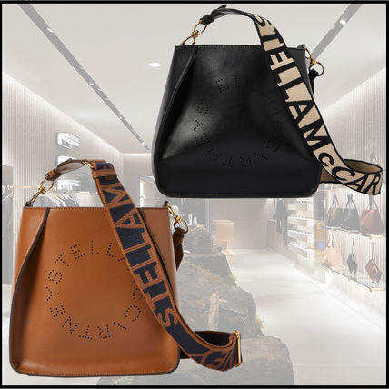 Stella McCartney Plain Logo Shoulder Bags