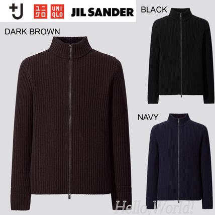 Jil Sander Sweaters Unisex Collaboration Long Sleeves Plain Designers Sweaters