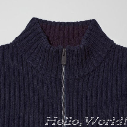 Jil Sander Sweaters Unisex Collaboration Long Sleeves Plain Designers Sweaters 6