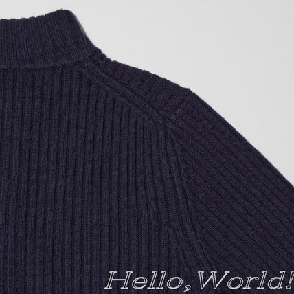Jil Sander Sweaters Unisex Collaboration Long Sleeves Plain Designers Sweaters 7