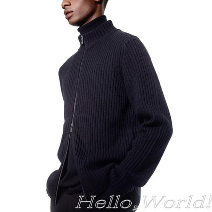 Jil Sander Sweaters Unisex Collaboration Long Sleeves Plain Designers Sweaters 11