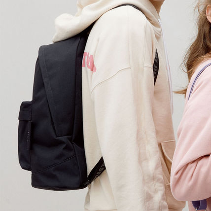 Casual Style Unisex Street Style Plain Logo Backpacks