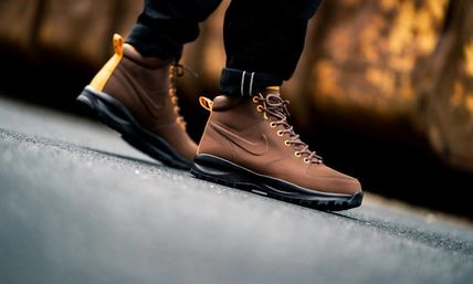 Nike Mountain Boots Street Style Leather Outdoor Boots