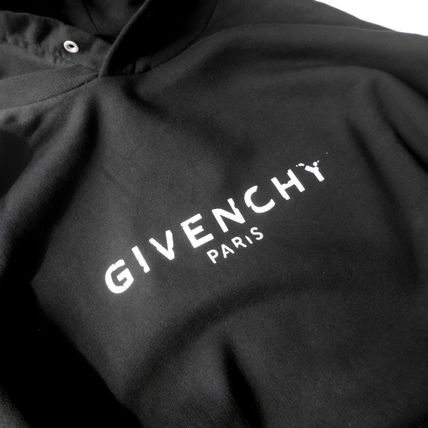 GIVENCHY Hoodies Pullovers Unisex Long Sleeves Plain Cotton Logo Luxury 2