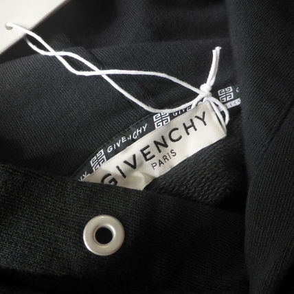 GIVENCHY Hoodies Pullovers Unisex Long Sleeves Plain Cotton Logo Luxury 3