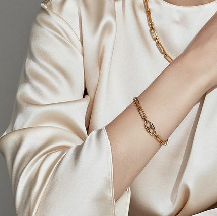 Casual Style Unisex Blended Fabrics Street Style Chain