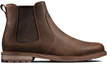 Clarks Plain Toe Suede Leather Chelsea Boots Chukkas Boots