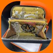 HERMES Silk In Leather Long Wallet  Coin Cases