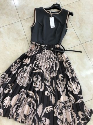 Flower Patterns Party Style Midi Office Style Elegant Style