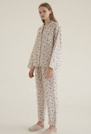 JO'S LOUNGE Gingham Unisex Cotton Street Style Lounge & Sleepwear