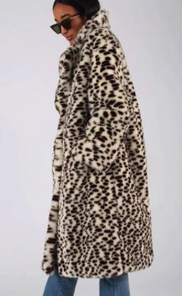 Leopard Patterns Casual Style Faux Fur Street Style Medium