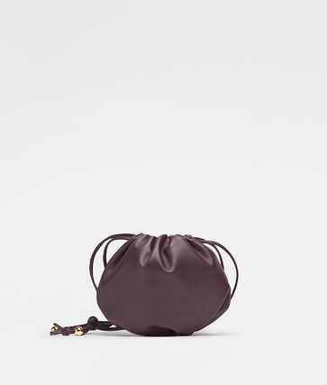 Casual Style Calfskin Plain Leather Party Style Purses