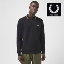 FRED PERRY Long Sleeves Logo Polos