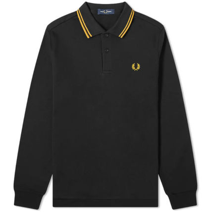 FRED PERRY Polos Long Sleeves Logo Polos 3