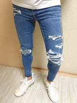 American Eagle Outfitters Skinny Unisex Street Style Skinny Jeans 11