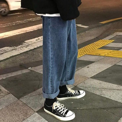 More Jeans Unisex Street Style Oversized Jeans