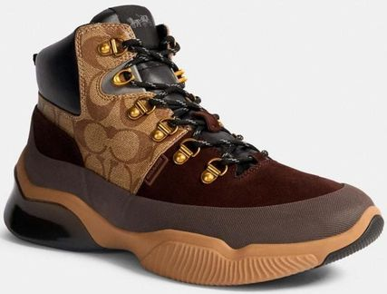 Coach Mountain Boots Suede Blended Fabrics Street Style