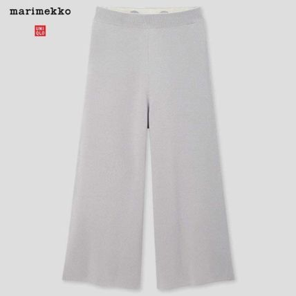 UNIQLO Casual Style Maxi Wool Collaboration Plain Long