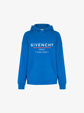 GIVENCHY Street Style Long Sleeves Plain Cotton Logo Luxury Hoodies