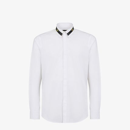 Long Sleeves Plain Cotton Logo Luxury Shirts