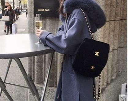 Formal Style  Casual Style Faux Fur Plain Long Street Style