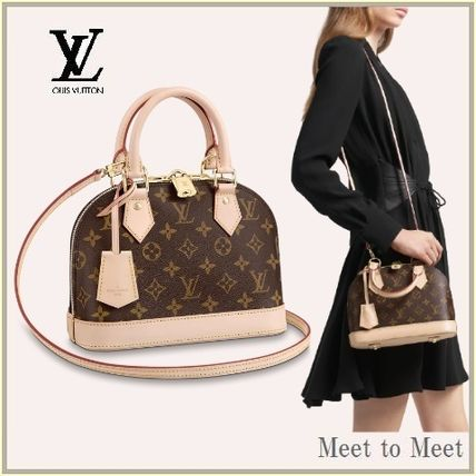 Louis Vuitton Monogram Plain Leather Logo Handbags