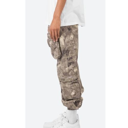 Printed Pants Camouflage Street Style Plain Cotton Military