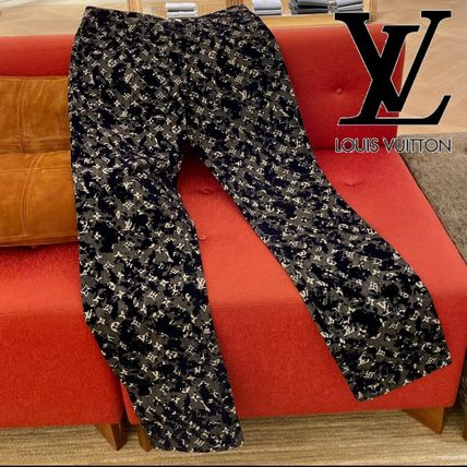 Louis Vuitton More Jeans Monogram Flock Seasonal Slim Denim Jeans