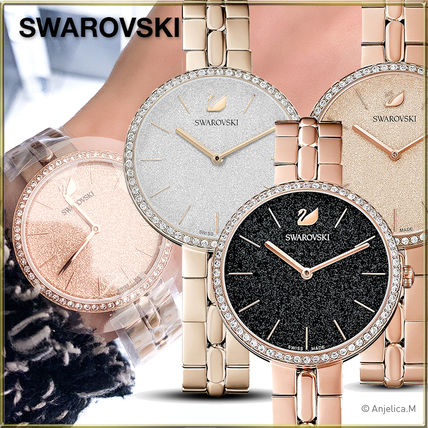 SWAROVSKI Round Formal Style  Casual Style Blended Fabrics Leather