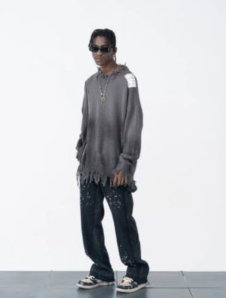 Crew Neck Pullovers Unisex Wool Low Gauge Street Style