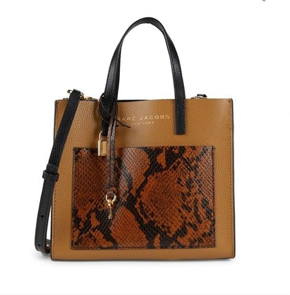 MARC JACOBS Casual Style 2WAY Leather Party Style Python Elegant Style