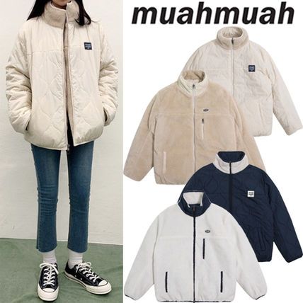 muahmuah Casual Style Street Style Logo Outerwear