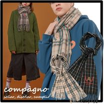 COMPAGNO Unisex Street Style Knit & Fur Scarves
