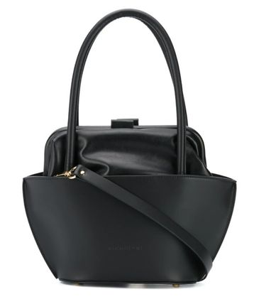 Casual Style Plain Leather Party Style Handbags
