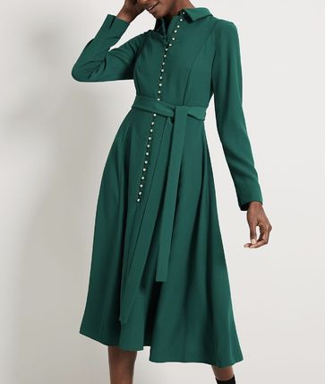 Long Sleeves Medium Elegant Style Dresses