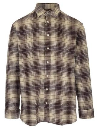 Other Plaid Patterns Street Style Cotton Designers Shirts