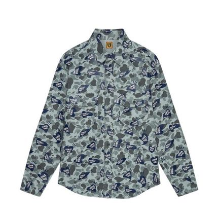 HUMAN MADE Button-down Camouflage Street Style Long Sleeves Plain