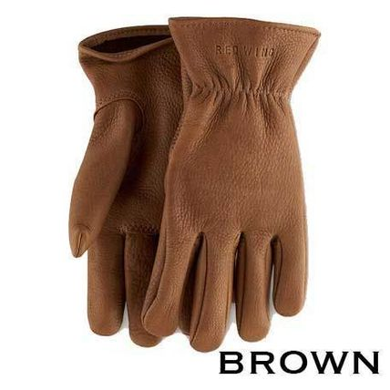 RED WING Unisex Leather Logo Leather & Faux Leather Gloves