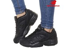 New Balance Unisex Street Style Plain Leather Logo Low-Top Sneakers
