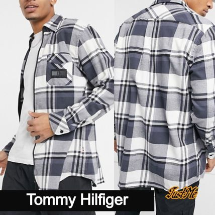Tommy Hilfiger Shirts Other Plaid Patterns Street Style Collaboration Long Sleeves