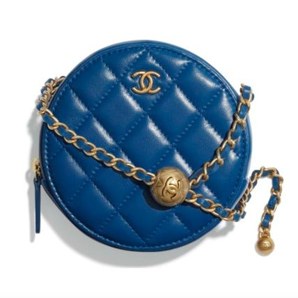 CHANEL Monogram Casual Style Chain Plain Leather Party Style