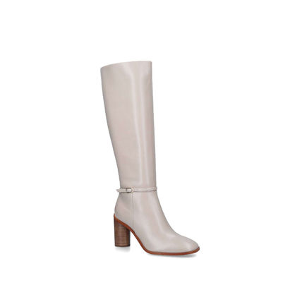 Rubber Sole Plain Formal Style  Over-the-Knee Boots