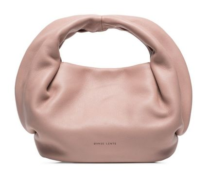 Leather Party Style Logo Handbags