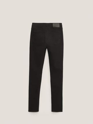 Massimo Dutti Casual Style Plain Cotton Medium Skinny Pants
