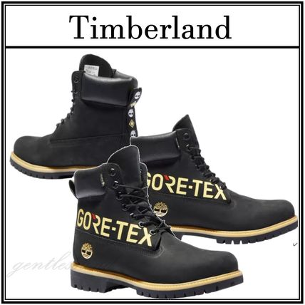Timberland Mountain Boots Suede Street Style Plain Leather Logo