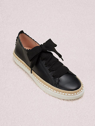 kate spade new york Round Toe Casual Style Street Style Plain Leather