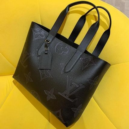 Louis Vuitton MONOGRAM Monogram Street Style A4 2WAY Leather Logo Totes