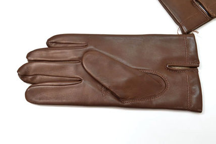 Plain Leather Bridal Leather & Faux Leather Gloves